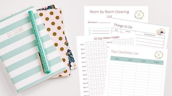 Home Management Binder for productivity and time management