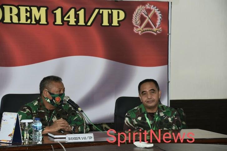 Brigjen TNI Djashar, Selamat Datang Ketua Tim Irjen TNI di Makorem 141/Tp Bone