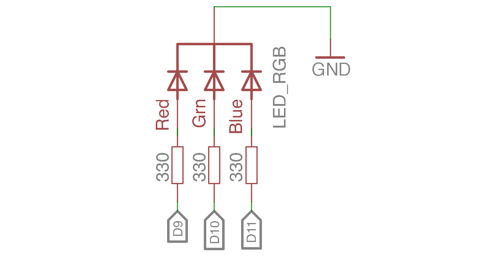 Hasil gambar untuk rangkaian sensor led rgb