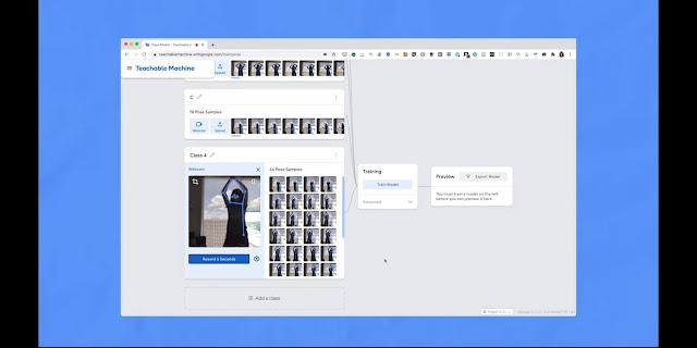 Google Teachable Machine Human pose estimation: Pose A