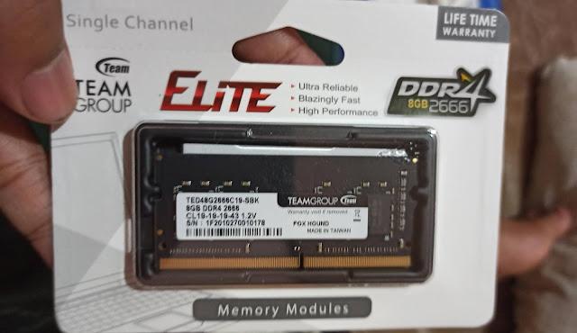 RAM berspesifikasi DDR4 2666MHz