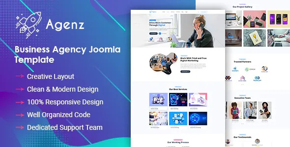 Best Creative Business Agency Joomla Template