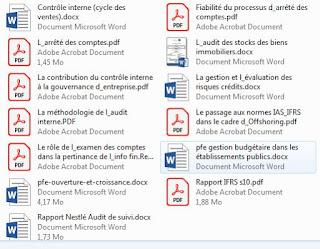Mémoires de Fin d'études réalisés à L'ENCG (pfe)