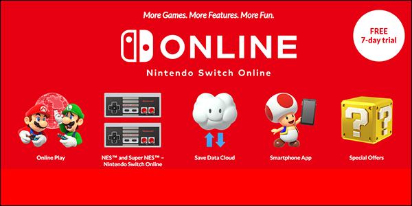 موقع الاشتراك عبر الإنترنت الخاص بـ Nintendo Switch.