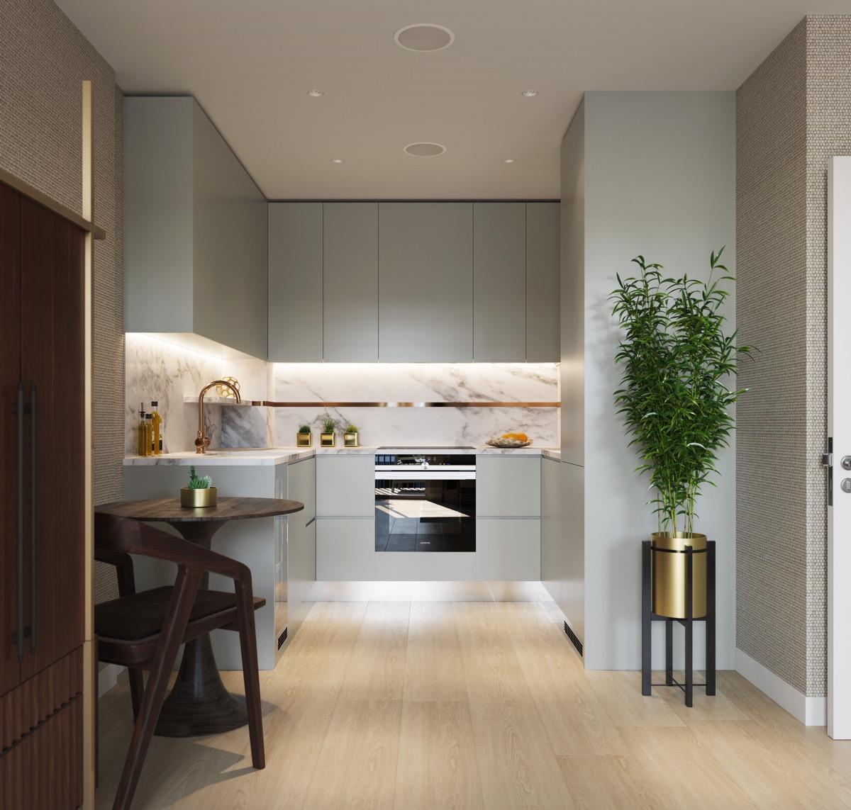 50 Desain Idaman Dapur Modern Bentuk U Rumahku Unik