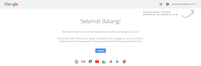 Daftar email baru menggunakan gmail terbaru