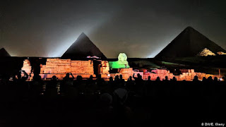 the pyramids and the Sphinx sound and light show