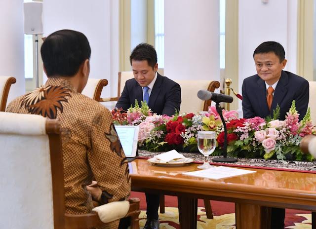 Jokowi Bertemu Jack Ma