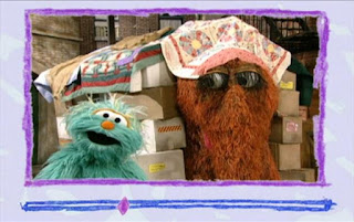 Snuffy shows off the neat house. Rosita tells they used boxes and blankets to build this house. Sesame Street Elmo's World Building Things Video E-Mail