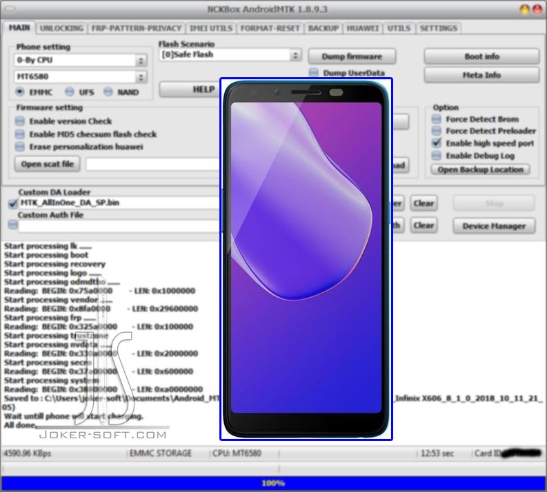 الفلاشة المسحوبه لهاتف Infinix HOT 6 X606 إصدار Android 8 1 0