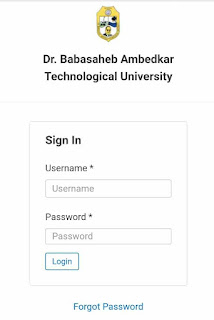Formfilling Dbatu वेबसाइट Dr. Babasaheb Ambedkar Technological University