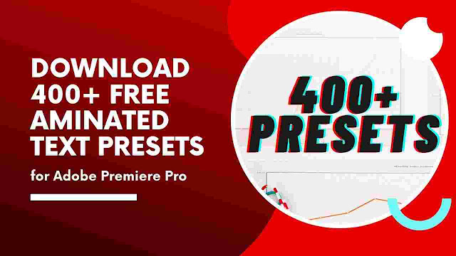 free Animated text presets for Adobe premiere pro