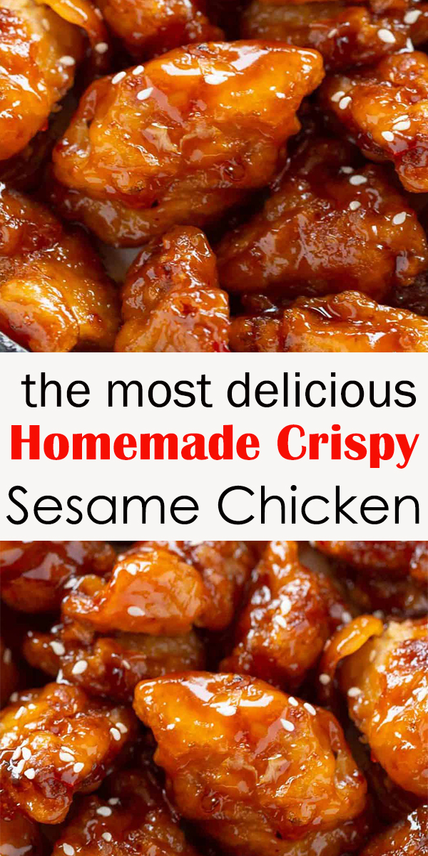Homemade Crispy Sesame Chicken #Homemade #Crispy #Sesame #Chicken #dinner #food  #HomemadeCrispySesameChicken