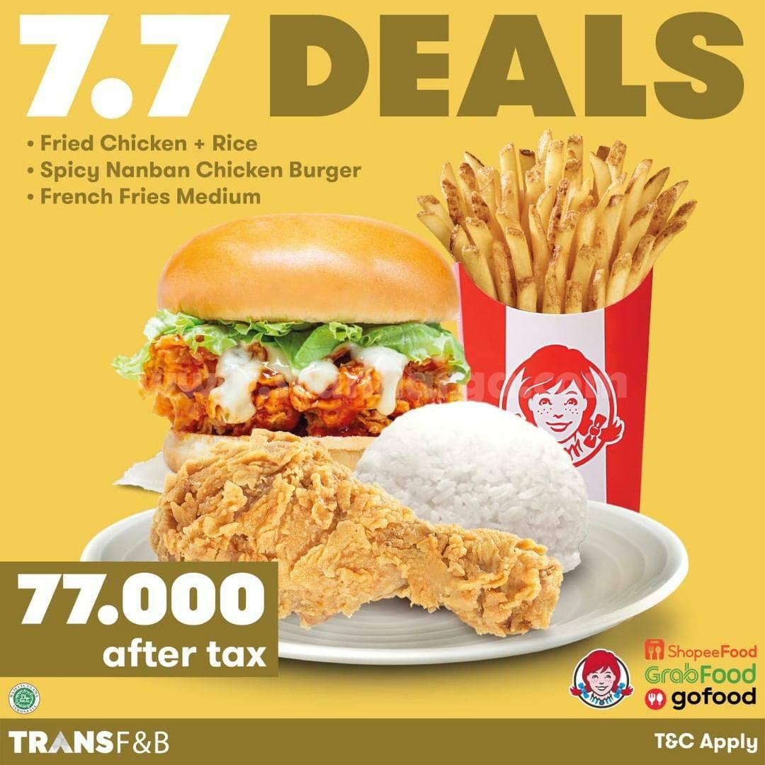 Wendy's Promo Super Deal 7.7