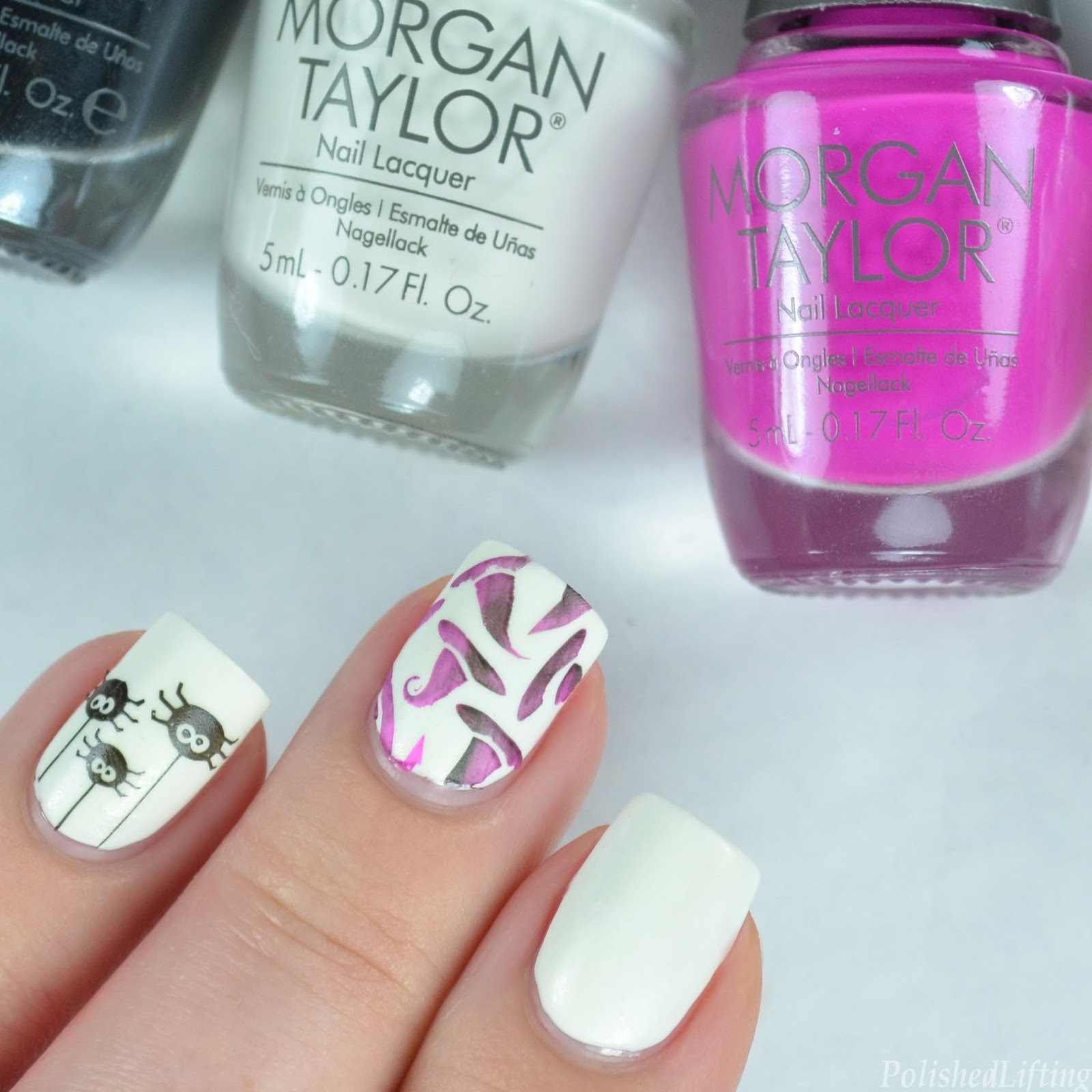 Polished Lifting: Morgan Taylor Halloween Spiders and Witches Hats