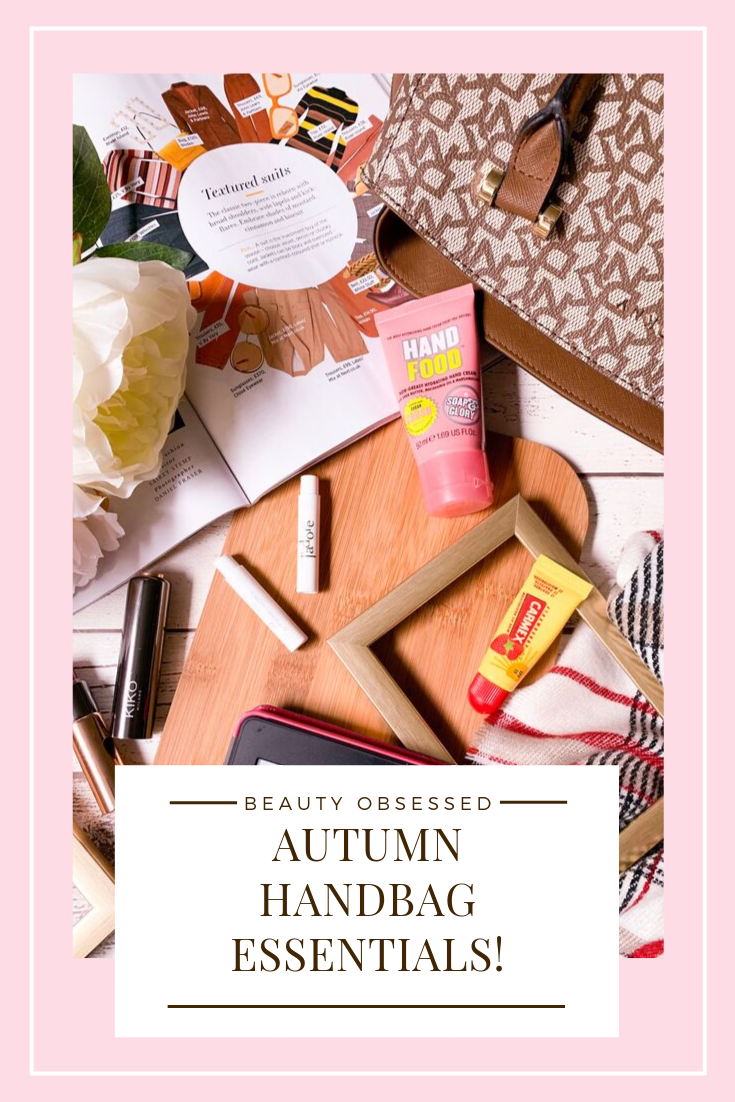 Autumn Handbag Essentials Pinterest Graphic