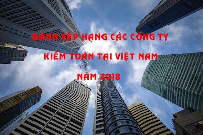 Bảng xếp hạng các Công ty Kiểm toán tại Việt Nam Năm 2018