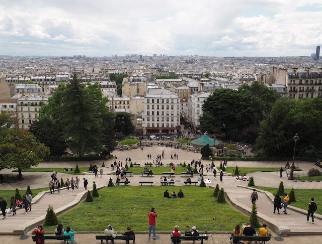 Budget travel: views from the Sacre Coeur