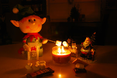 elf on the shelf advent bible study roasting marshmallows around campfire