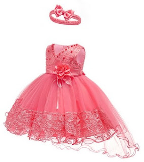 Beading Flower Girls Party Formal Dress