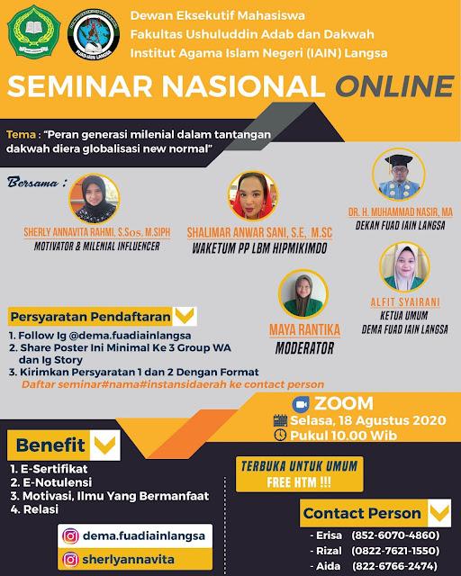 Poster Seminar Nasional (Desain by : Muhammad Faishal)