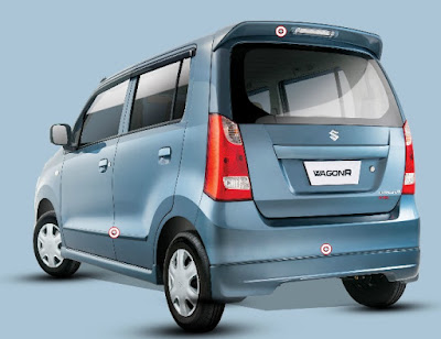 Maruti Suzuki Wagon R Blue rear look
