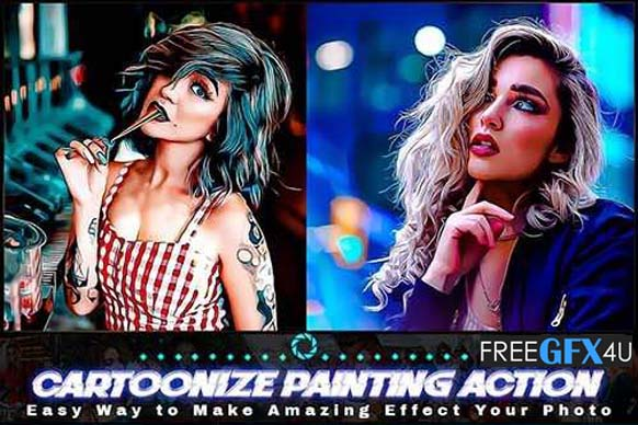 Cartoonize Painting Photoshop Action