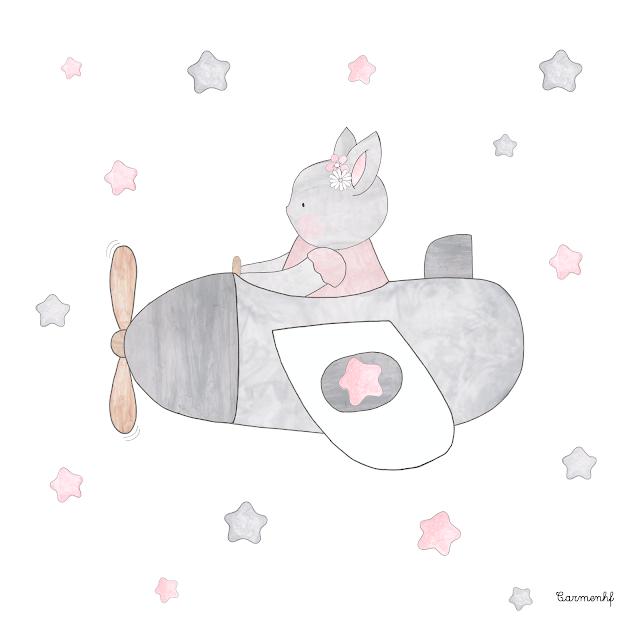 láminas de conejos