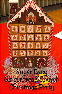 Decorate for your church Christmas party with this fun gingerbread party theme.  With simple and fun gingerbread party decorations and sweet photo booths perfect for families and Santa, this church Christmas party will put everyone in a sweet spirit for Christmas.  #christmasparty #gingerbreadparty #churchchristmasparty #diypartymomblog