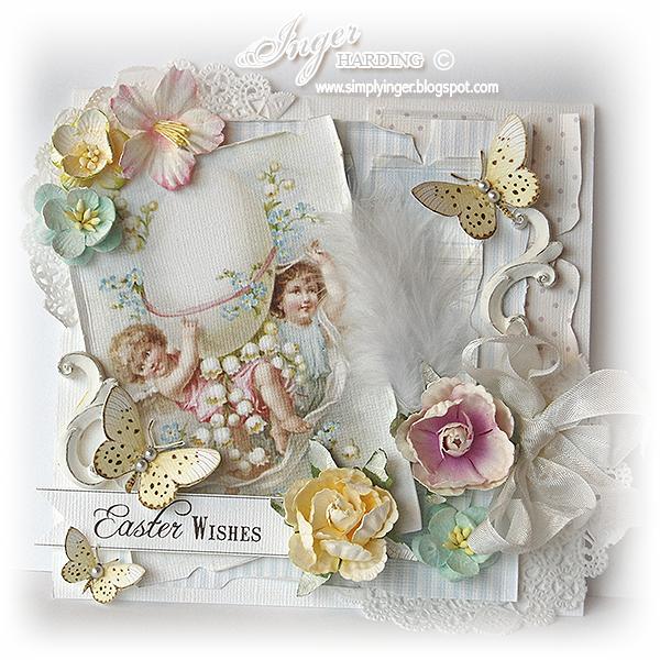 Inger Harding: Shabby Chic Easter Card