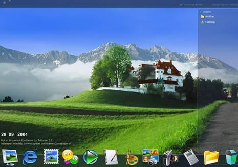 Gambar cara mengubah tampilan desktop jadi cantik dan keren