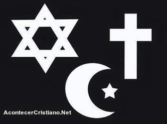 Símbolos de religiones monoteistas