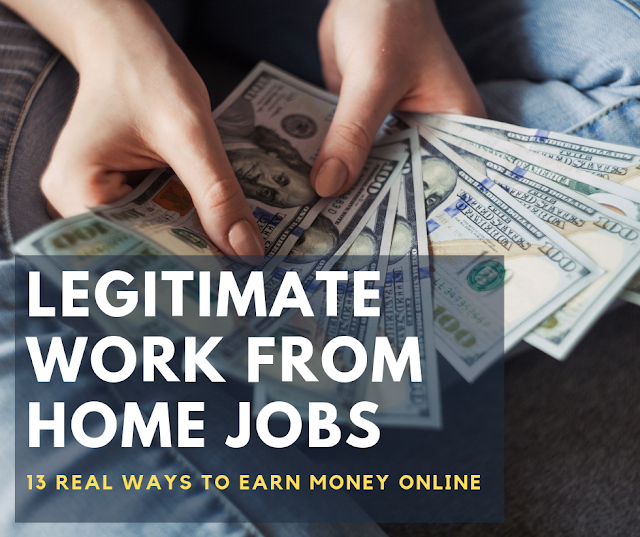 13 Brilliant Legitimate Work from Home Ideas