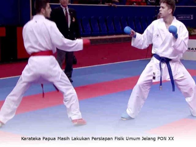 Karateka Papua Masih Lakukan Persiapan Fisik Umum Jelang PON XX