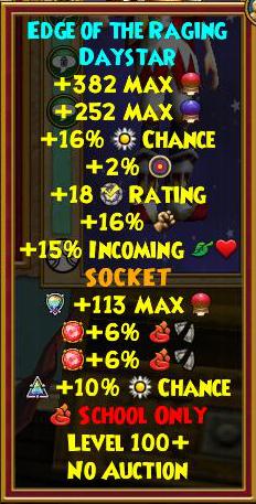 Wizard101 Darkmoor Gear Drops - Best Level 100+ Gear