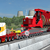 260 Tons Industrial Cable Reel Transport with Support Trucks