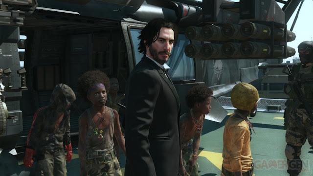 بالصور الممثل العالمي Keanu Reeves يحط الرحال في لعبة Metal Gear Solid V و فكرة رهيبة جداً