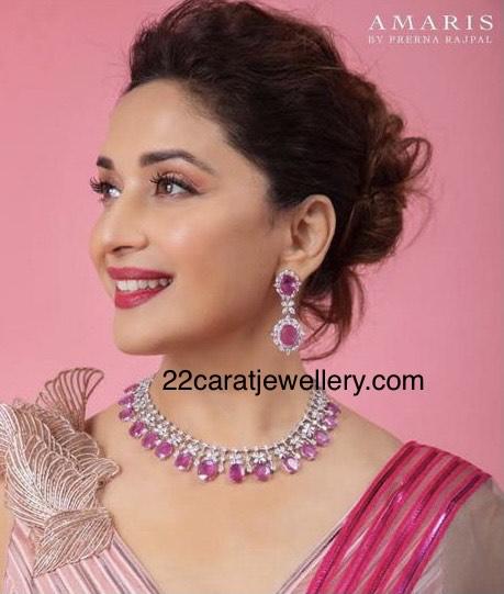 Madhuri Dixit Diamond Ruby Choker