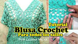 Blusa Crochet para todos los talles / Tutorial DIY