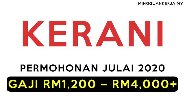Minima PMR / PT3 Layak Memohon 140+ Jawatan Kerani di Seluruh Negara Julai 2020 ~ GAJI RM1,200 - RM4,000+
