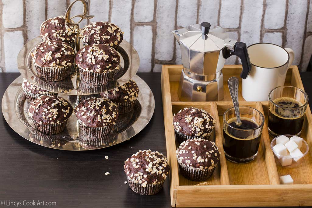 Breakfast table with muffins