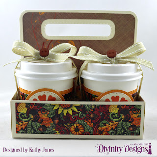 Paper: Follow the Son Custom Dies: Milk Carton Holder, Mini Coffee Cup Wrapper and Layer, Circles, Double Stitched Circles, Pretty Posies Other - Mini Coffee Cups