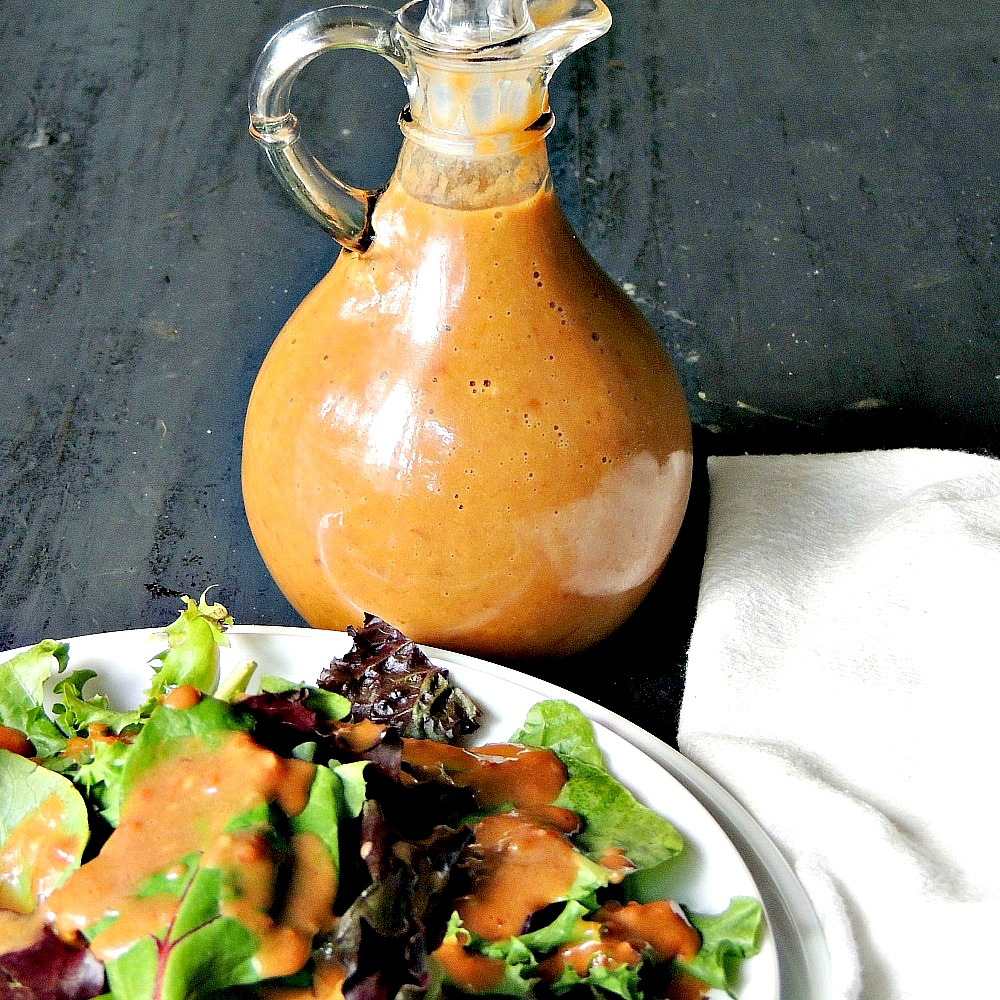 Grilled Tomato Vinaigrette - No matter the weather you MUST break out that grill and make this Grilled Tomato Vinaigrette! Grilling brings that touch of smoke that puts this low carb/keto-friendly vinaigrette OVER.THE.TOP! I could drink buckets of this stuff I swear ✋  #keto #lowcarb #salad #dressing #tomato #grilled #easy #recipe | bobbiskozykitchen.com
