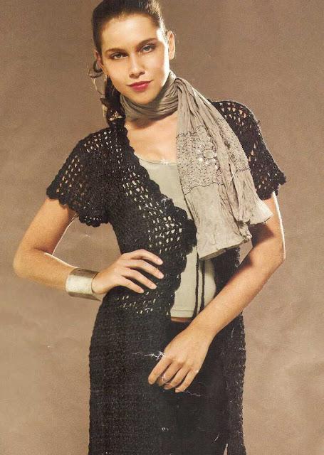 Patrón #1457: Chaqueta a Crochet