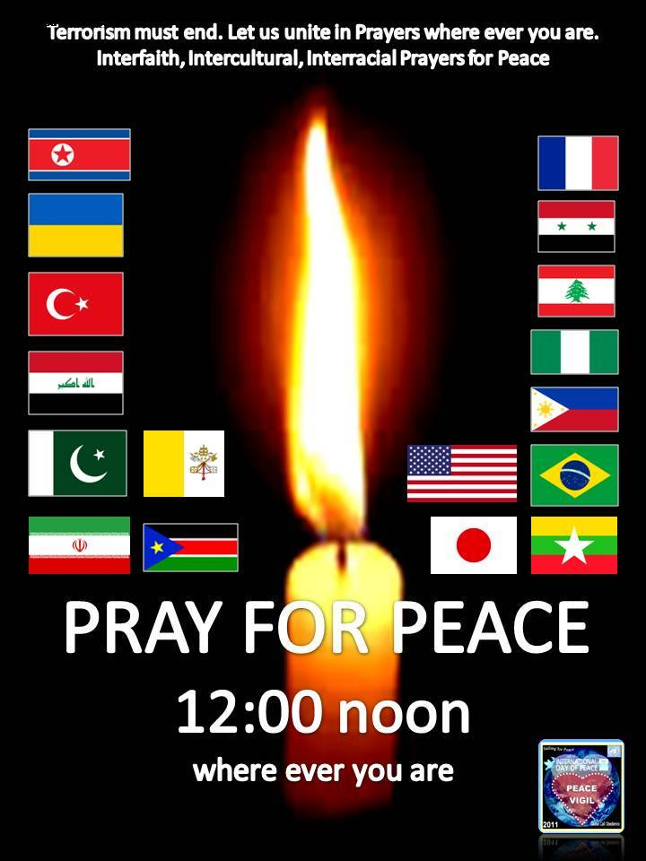 12:00 PRAY FOR PEACE TO END TERRORISM