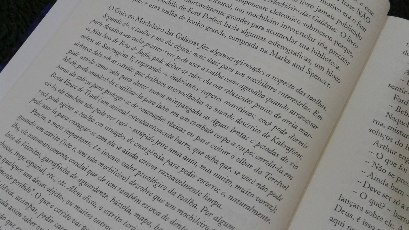 Livros Resenha O Guia Definitivo Do Mochileiro Das Galáxias