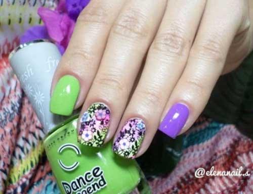 fall color acrylic nails