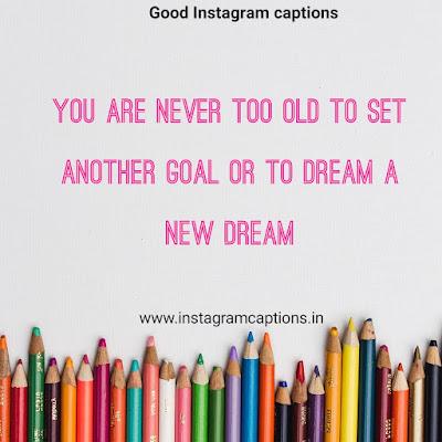 Good Instagram Caption on dream