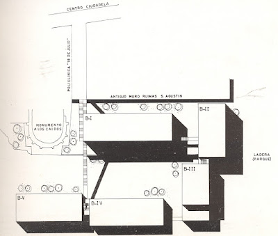 Plano de situación viviendas taray segovia aracil arquitectura contemporánea segovia