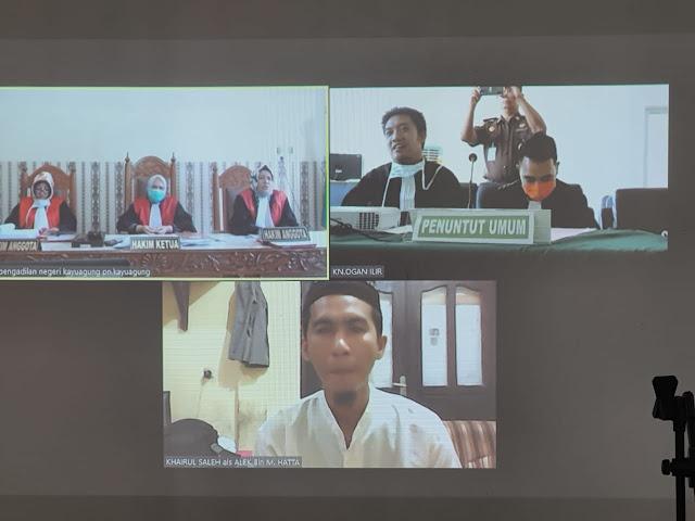 Ibrahim Yang Terlibat Pembunuhan Sadis, Warga Desa Pinang Mas Dituntut 10 Tahun Penjara
